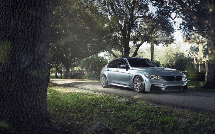 BMW M3, F80, Silver BMW, Sport Car, tuning M3