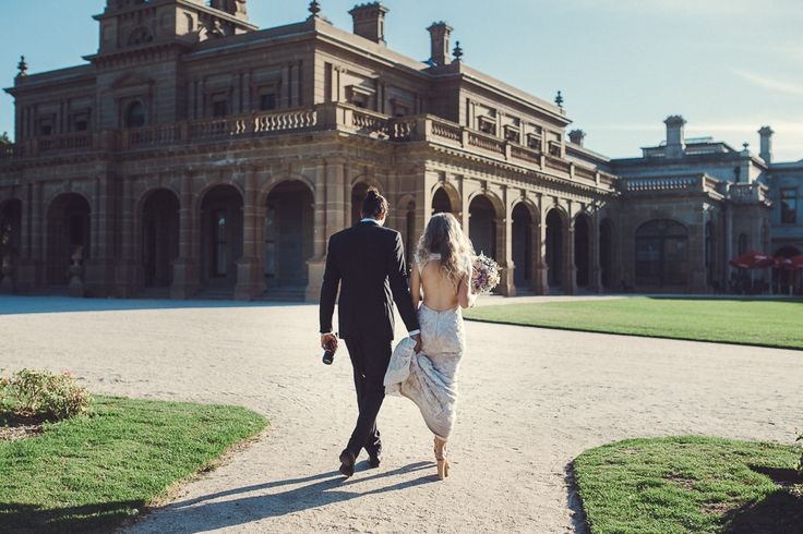 Backless dress - Werribee garden wedding Melbourne Australia photographer manbun chic