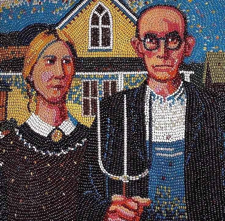 American Gothic Parody | American Gothic, jelly bean-style. | Art Parodies