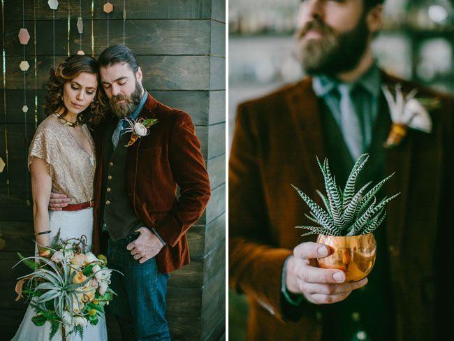 1970's Urban Chic Wedding Inpiration | Green Wedding Shoes Wedding Blog | Wedding Trends for Stylish + Creative Brides