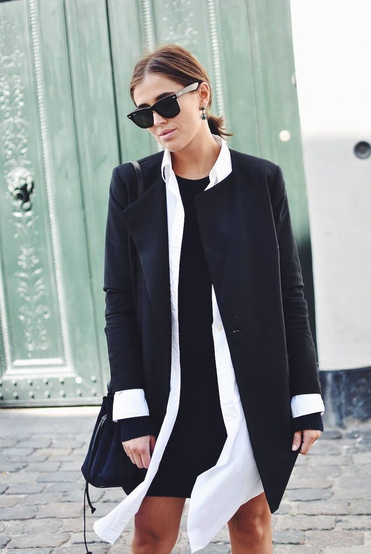 Layer on Layer with Fashion Editor Darja Baranik @STYLEmag wearing our new long shirt Ella Dress under a Blazer for a perfect late Summer look.   http://hope-sthlm.com/ella-dress-white http://www.darjabarannik.com/layers-2/