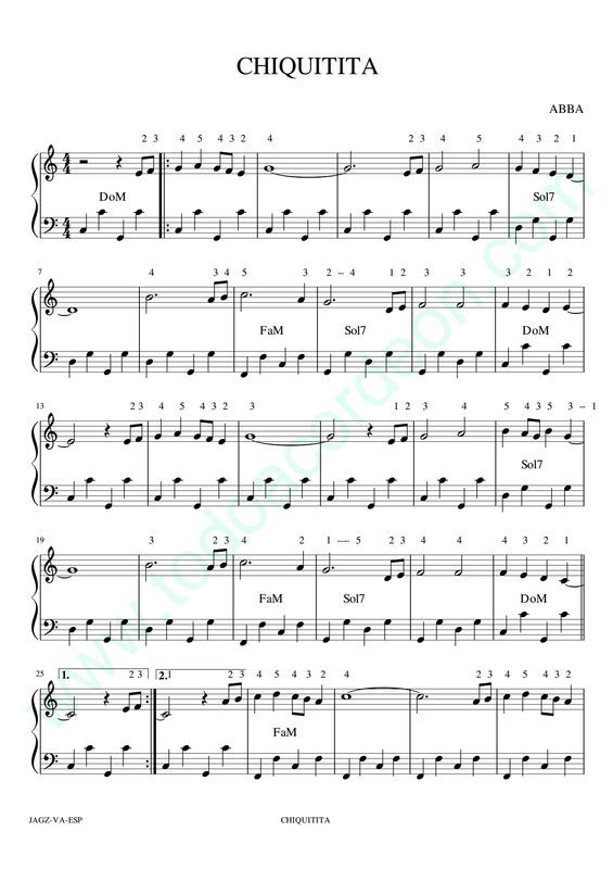 Dropbox Chiquitita Pdf Violin Songs Sheet Music Learn Piano