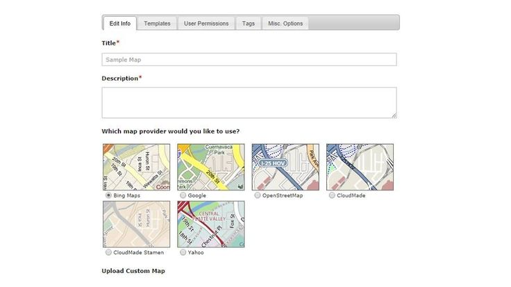 how to create interactive map for website