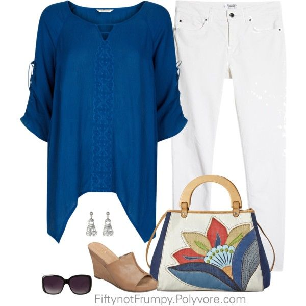 Warm Weather Please! by fiftynotfrumpy on Polyvore featuring Monsoon, MANGO, A2 by Aerosoles, Relic, Lauren Ralph Lauren and Merona