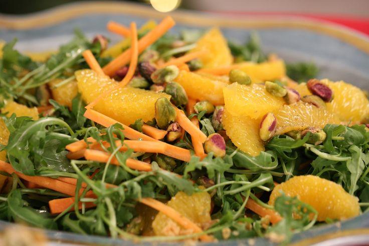 Shelina Permaloo's Carrot Orange and Pistachio Salad