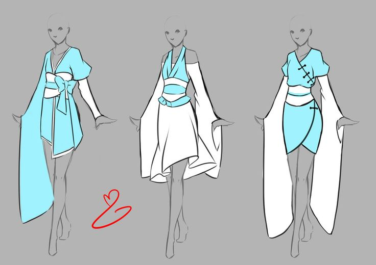 Inspiration: Clothing ----Manga Art Anime Drawing Clothes Asian-Inspired---- [[[by rika-dono on deviantART]]]