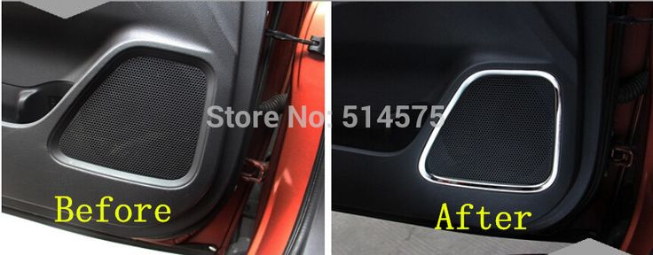 Door audio speaker decoration cover trim 4pcs FOR Mitsubishi Outlander 2013 2014