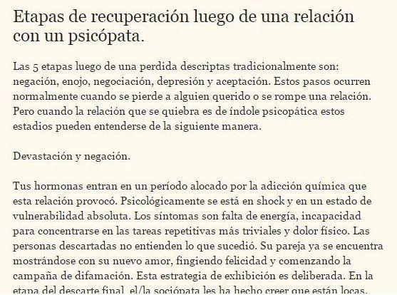Etapas de recuperación luego de abuso por #psicópatas #narcisistas. Texto completo en http://sobreviviendoasociopatasynarcisistas.blogspot.com.ar/2014/03/etapas-de-recuperacion-luego-de-una.html