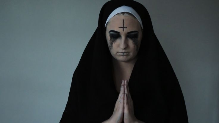 Halloween tutorial, Scary nun, horror look, deamon nun, halloween costume, diy easy, idea