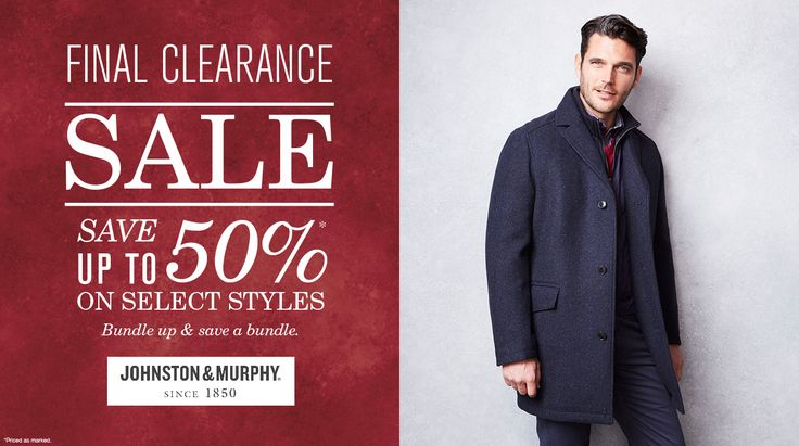 Final Clearance Sale Save Up To 50% On Select Styles On #Johnston&Murphy  #Jacket #Coat #LeatherJacket #Shopping