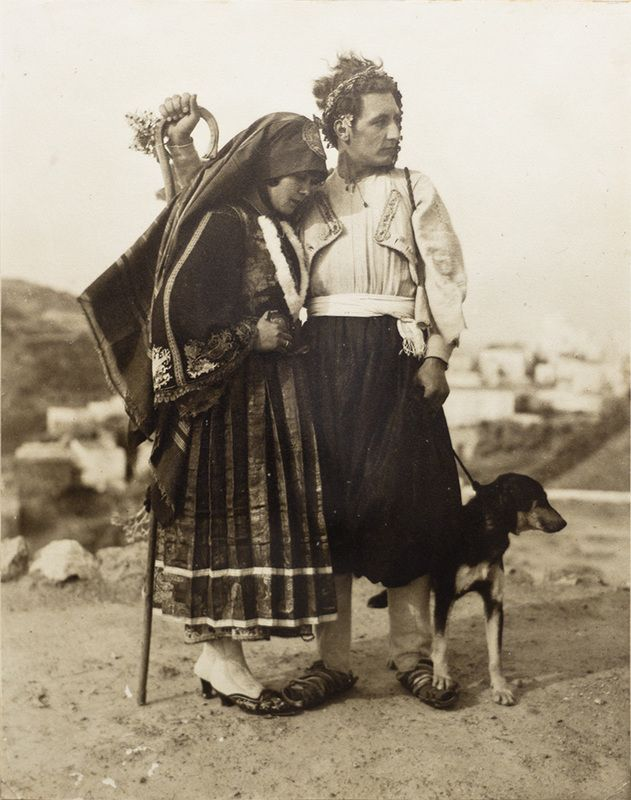 "Unknown photographer, ""Wedding Portrait of Georg and Faltaina von Peschke, Skyros,"" Georg von Peschke, accessed March 17, 2017, http://brynmawrcollections.org/peschke"