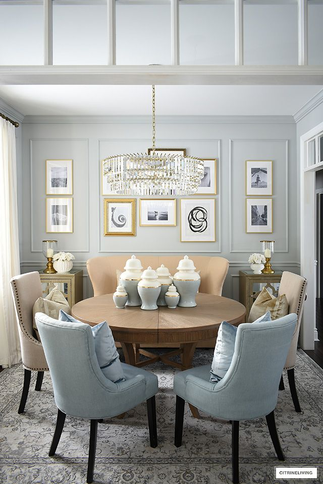 Inexpensive Diy Gallery Wall Citrineliving Dining Room Gallery Wall Diy Gallery Wall Dining Room Design