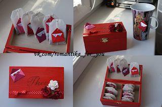 Романтические поступки и подарки ручной работы на каждый день: Чай с посланием