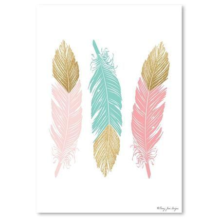 Penny Jane - Feathers, Print, 30cm x 42cm