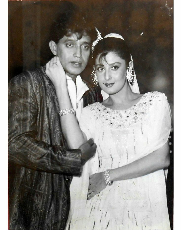 Throw back photo of vintage bollywood actor Mithun da with Sangeeta bijlani