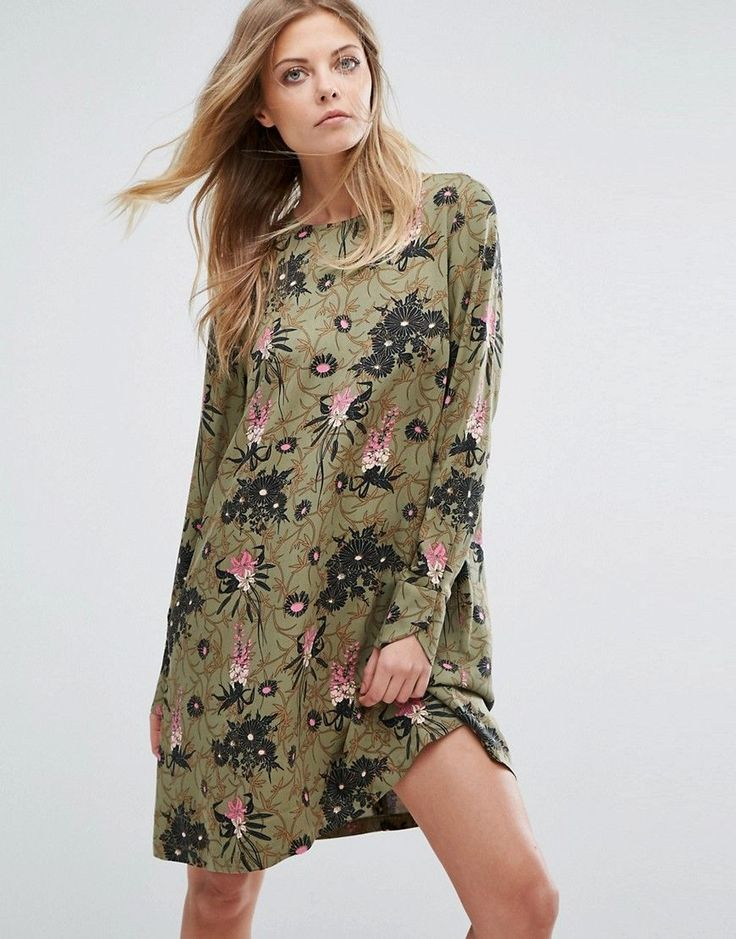 Y.A.S Blooming Floral Print Long Sleeve Dress - Multi