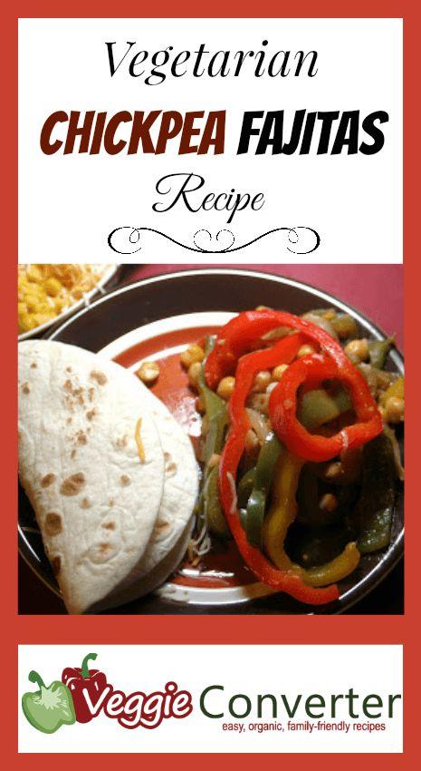Vegetarian Chickpea Fajitas Recipe