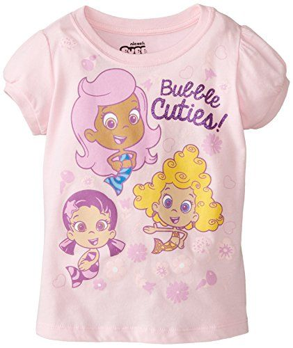 Nickelodeon Girls' Bubble Guppies Cuties! T-Shirt:   Bubble guppies cuties t-shirt