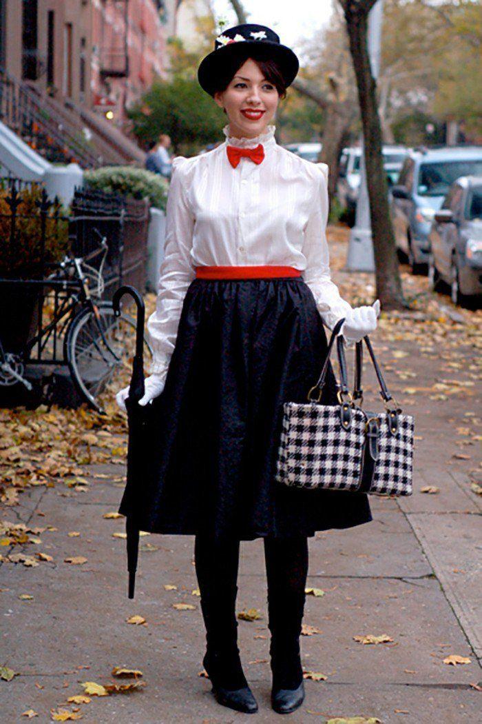 costume mary poppins, déguisement halloween facile et très original