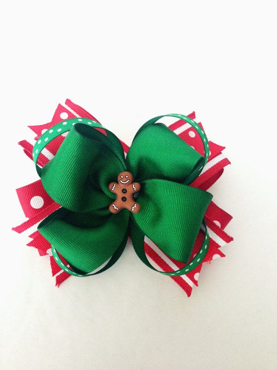 Christmas Inspired Hair Bow Holiday Hair Bows by JoeysBowBoutique, $5.50