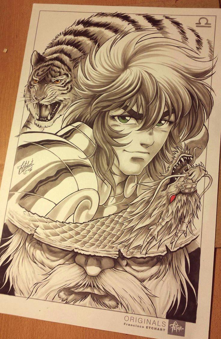 Dohko Saint Seiya art with pencil