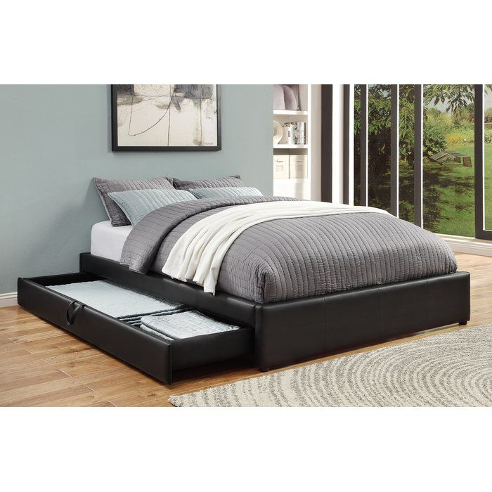 Morningside Upholstered Storage Platform Bed Bed Frame With