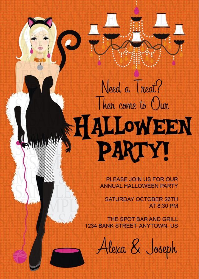 Costume Adult Birthday Party Invitation 11 Halloween