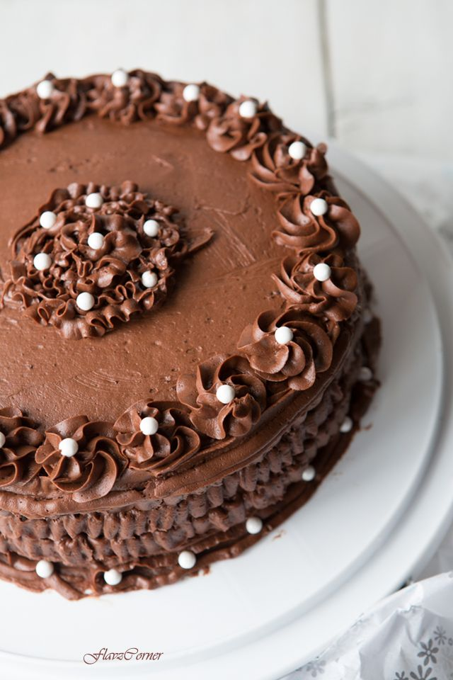 Flavz Corner: Black Magic Cake With Chocolate Butter Cream Frosting - 100th post and 2nd year Blog Anniversary Celebration