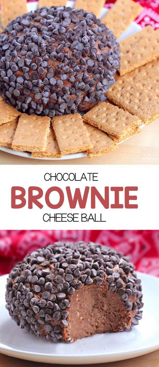 Chocolate Brownie Cheese Ball - This was so EASY, just throw 5 ingredients together and you have dessert - it literally tasted like a giant ball of chocolate cheesecake! ... @choccoveredkt http://chocolatecoveredkatie.com/2014/06/16/chocolate-brownie-cheesecake-ball/