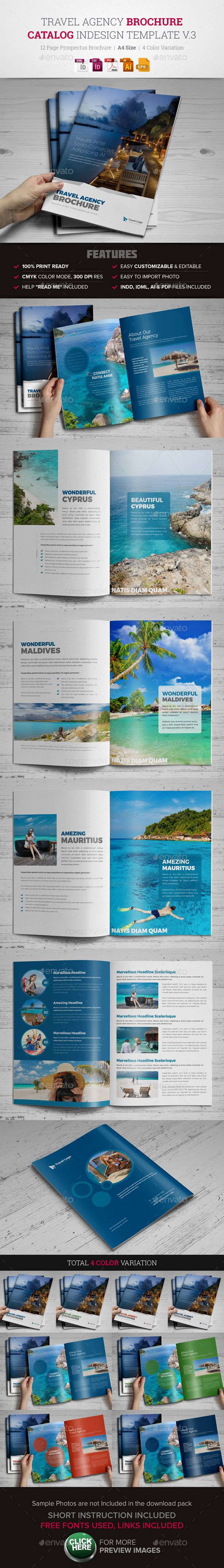Travel Agency Brochure Catalog InDesign Template #design Download: http://graphicriver.net/item/travel-agency-brochure-catalog-indesign-v3-/12679585?ref=ksioks