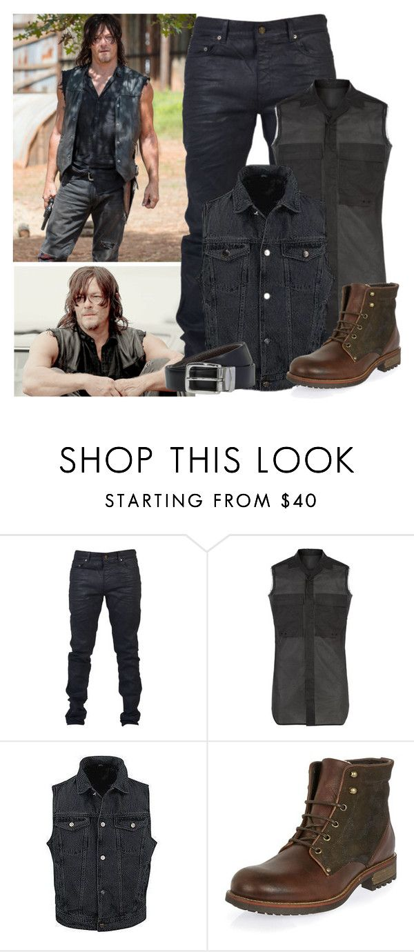 """""""The Walking Dead - style"""" by bebe6121985 on Polyvore featuring Yves Saint Laurent, Rick Owens, BOSS Hugo Boss, men's fashion and menswear"""
