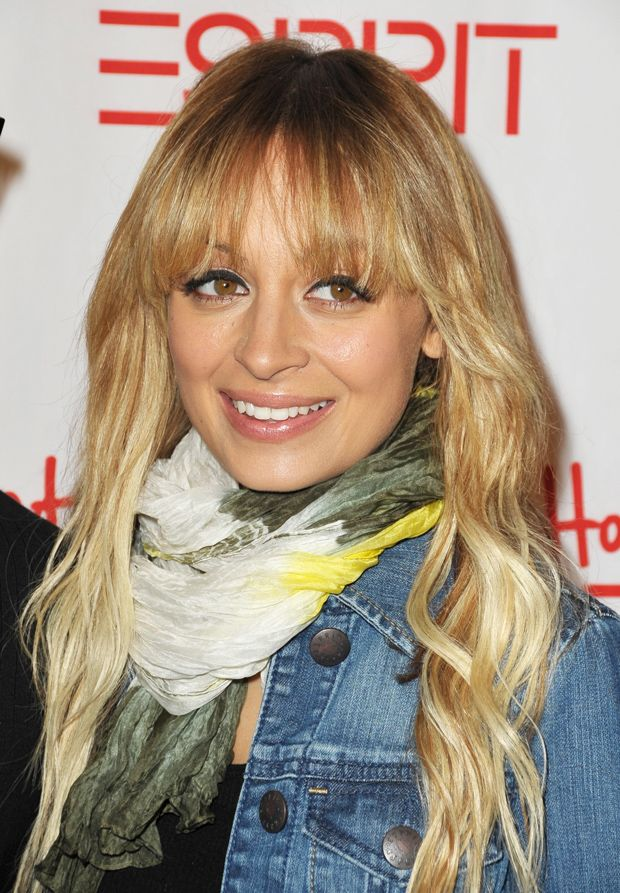 Nicole Richie's arched bangs would flatter a round face shape perfectly