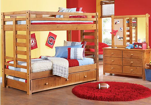 Shop for a Creekside Taffy 6 pc Twin Twin Bunk Bedroom at Rooms To Go Kids. Find  that will look great in your home and complement the rest of your furniture.
