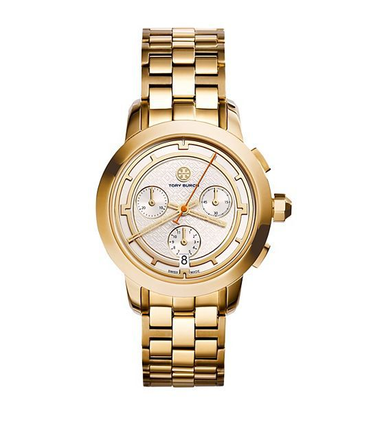 Gold-Tone/Ivory Chronograph, 37 mm - N/A