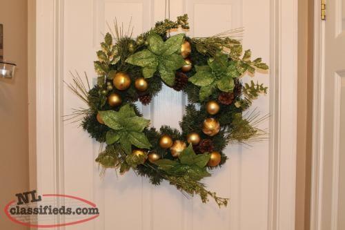 Homemade christmas wreaths for sale newfoundland crafts for Craft wreaths for sale