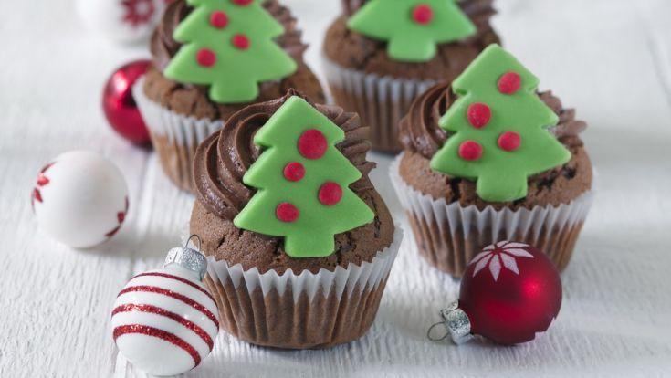 Vianočné čokoládové cupcakes