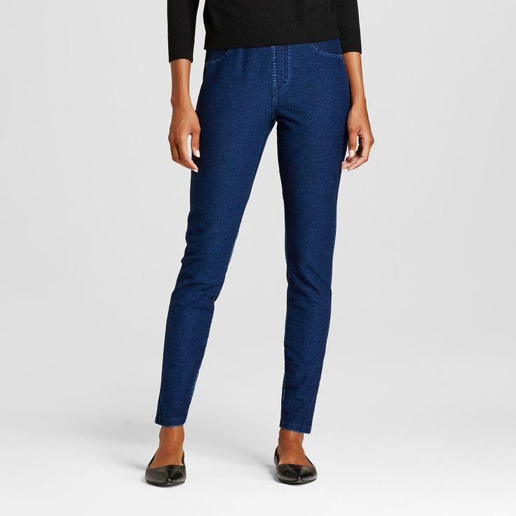 Women's Plus-Size Jeggings with Wide Waistband Blue Indigo 2X - Merona, Size: 2XL, Black