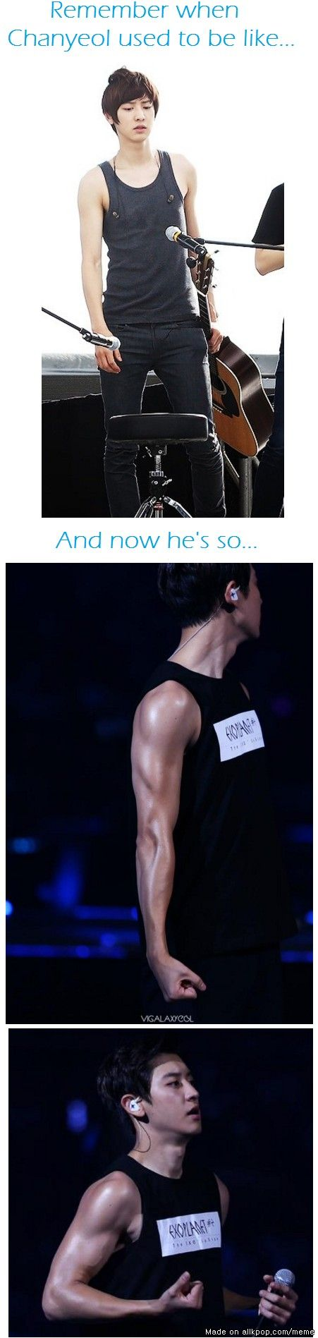 Well DO started working out so Chanyeol had to as well for protection reasons LMAO #EXO
