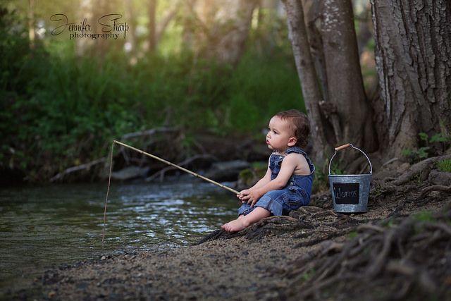 Nothing beats a good day fishing.... Connor David 15 mo Jennifer Sharp Photography Toddler photography Southern Oregon