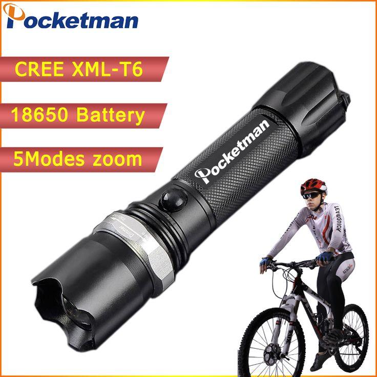 Haute Puissance CREE XML-T6 5 Modes lampe de Poche 3800 Lumens LED lampe de Poche Étanche Zoomables Torche lumières 18650 ou AAA batterie