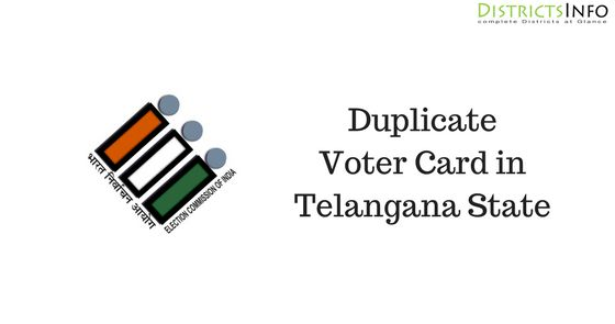 Duplicate Voter Card in Telangana State - How to Apply, apply the duplicate voter card you need to go through an offline method.