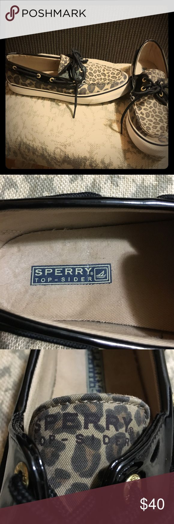 Leopard Sperry's Size 8 Sperry's in good condition! There are sticker marks on the bottom of the shoe (but it's the bottom of the shoe!). Sperry Top-Sider Shoes Sneakers