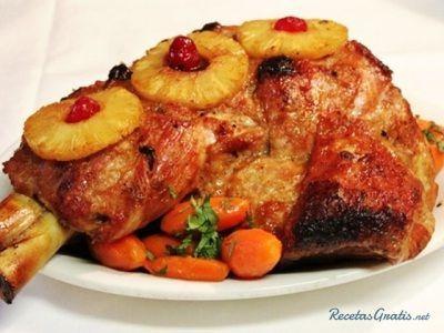 Pernil de cerdo a la colombiana en horno