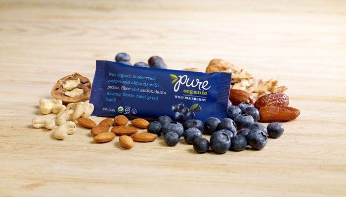 Yum! Clean, simple, packaging for organic granola bars