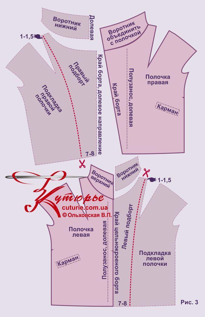 Выкройка пальто «конус» 42-52 рис3