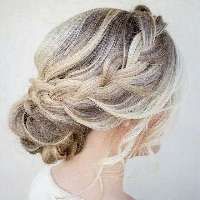 A beautiful braid for a up do with a styled but loose look for you wedding day.