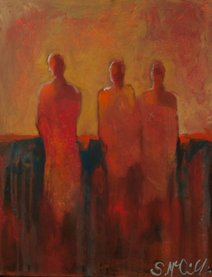 """There Were Three"" Abstract, figurative. Original oil painting by Shelby McQuilkin"
