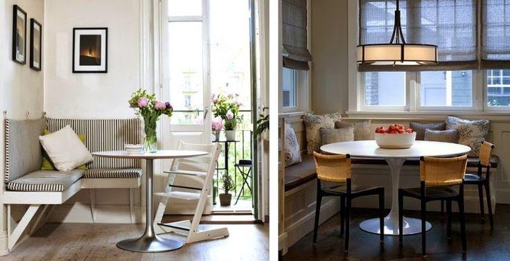 Nos encanta este blog con rincones y pequeños comedores para la cocina. ¿os gusta comer en la cocina o en el salón?