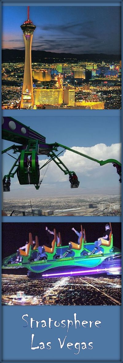"""Stratosphere Las Vegas"" - the 4 extreme thrill rides are at the top, over 900 feet high. Visit for special offers, best hotel deals and discounts."