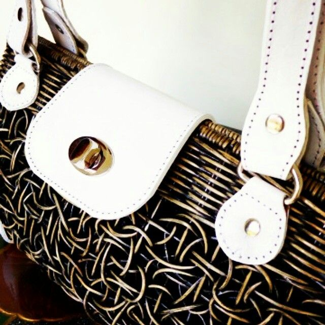 It's all about the handcrafted bags....rattan and leather combination made this bag stands out!